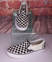 Vans Slip-on Sneakers Black and White Checkerboard Men's 8.5 Women's 10