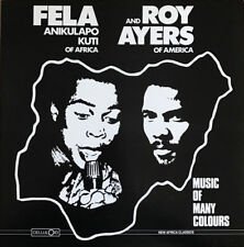 """FELA KUTI AND ROY AYERS, MUSIC OF MANY COLOURS, RARE 12"""" LP,  US 1986 (AS NEW)"""