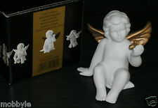 Rosenthal  Engel mit Stern weiss matt vergoldet 11 cm NEU mit OVP Engel gold
