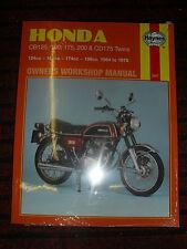 Haynes Workshop Manual FOR HONDA CB 125 175 200 CD 175 1964-78