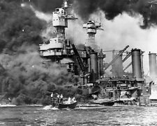 WW2  Photo Pearl Harbor Attack West Virginia Burns WWII World War Two US Navy