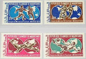 MAURITANIA MAURETANIEN 1970 392-5 279-2 World Soccer Cup Fußball WM Football MNH