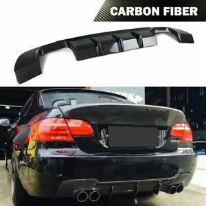 Carbon Fiber Rear Bumper Diffuser Lip Fit For BMW E92 E93 335i M Sport 2007-2013