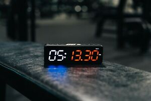 mini gym timer, magnetic, rechargeable, pocket sized, led timer, gym clock