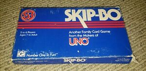 Vintage Deluxe Skip-Bo Card Game 2-6 Players Complete w Instructions 1989 1995