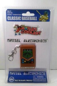 Mattel Electronics Games World's Coolest Mini Baseball Handheld Keychain Game