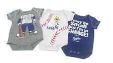 Kansas City Royals Mlb Baby Infant Size 3 Piece Creeper Bodysuit Set New