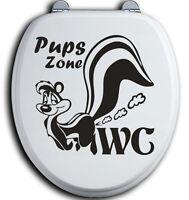 Pups Zone WC Deckel Toilettendeckel Bad Klo Aufkleber Sticker Tunin Wandtattoo 1