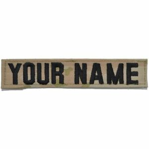 Single Custom Army Name Tape w/ Hook Fastener Backing - 3-Color OCP