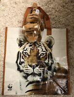 World Wildlife Fund GUND Bengal Tiger Plush Stuffed Animal #44528 & WWF Tote Bag