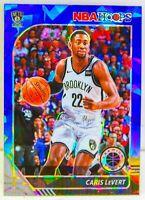Caris Levert 2019-20 NBA Hoops Premium Stock Blue Cracked Ice Prizm Card 15 Nets