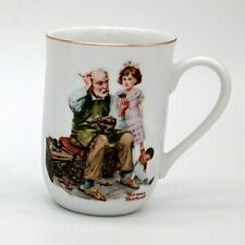 Norman Rockwell Museum The Cobbler Coffee Mug Cup 1982 Vintage Collectible