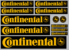 CONTINENTAL Yellow on Black decal set 12 High Quality Printed and Cut Stickers