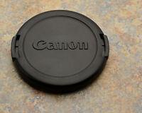 Excellent Genuine Canon EOS E 52mm Snap-On Front Lens Cap 50mm 1.8 (#1052)