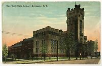 Postcard Rochester NY New York State Armory Building Street View 1910's 1915