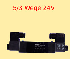 "Pneumatikventil 5/3 Wege 24 Volt 1/4"" 1,5-8 bar 5/3 Wegeventil Magnetventil #B51"