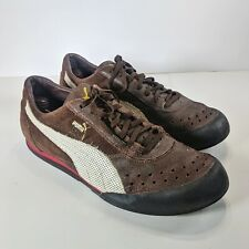 PUMA Tiro II Low Retro Running Soccer Mens 12 Brown Athletic Suede Leather VGT