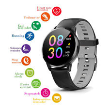 "1.3"" Round Touch Water-Resistant Smart Bluetooth Sync Watch For iPhone & Android"