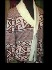 Vintage 70's Show Mens UGLY Wrap Around SWEATER Med. Disco Mod Hippie