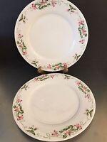 Vintage Homer Laughlin Serving Chop Platters Set 2 Best China Pink Floral Border