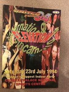 ELEVATION and 691 REINCARNATION - A3 RAVE FLYER - 23/7/1994 - CRYSTAL PALACE