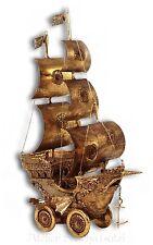 Katherine´s Collection Galeone Segelschiff auf Rädern Gold Reise 30,5cm