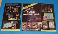 Vintage 1980s Atari Colecovision cartridges magazine ad **FREE SHIPPING**