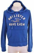 HOLLISTER Mens Hoodie Jumper Medium Blue Cotton  FZ04