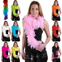 FEATHER BOA BURLESQUE DANCE FANCY DRESS HEN NIGHT ACCESSORY SHOWGIRL 150CM 115GM
