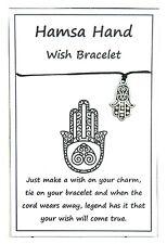 2 x Wish String Bracelet or Anklet - Hamsa Hand Charm Handmade W070
