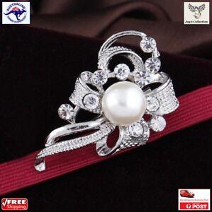 1 Pcs Fancy Silver Brooch Pin for Women Scarf / Dress / Hijab Wedding [A7U2~B18]