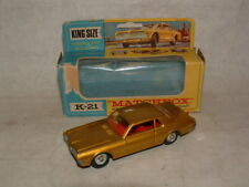 1960s MATCHBOX TOY KING-SIZE # K-21 MERCURY COUGAR NEAR MINT IN THE BOX