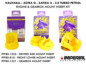 Mk4 Astra G POWERFLEX engine & gearbox mount insert kit GSI SRI Z20LET Z20