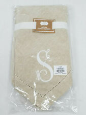 Mud Pie 4424000S Initial S Embroidered Cotton Napkins Set of 4, , Oatmeal
