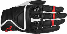 ALPINESTARS Celer Leather Touch Screen Motorcycle Gloves (Black/White/Red) XL