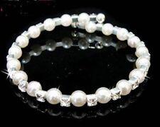 Rhinestone Silver Plated Cuff Fashion Bracelets