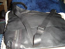 DKNY BLACK LEATHER CROSS BODY MAN BAG HANDBAG