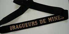 DRAGUEURS DE MINES  Marine Ruban légendé de bachi ORIGINAL cap tally France