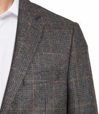 Lauren Ralph Lauren Blazer Men Suits Jacket Size 42L Wool Gray Brown Windowpane