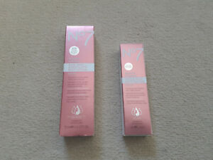 2 New No7 Restore And Renew Face & Neck Serum 75 ml and 30ml