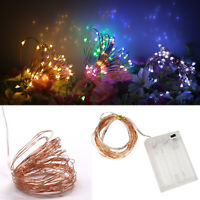 LED Strip String Fairy Light Copper Wire Battery Powered Xmas Party DIY Decor RD
