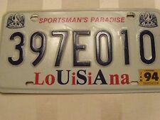 1994 Louisiana Sportsman's Paradise License Plate  #397E010