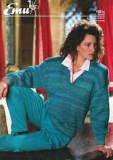 "Em1051 Donna Aran Sweater Knitting Pattern 32-40""/81-102cm"