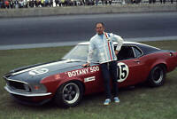 OLD LARGE PHOTO, Parnelli Jones with his Ford Mustang at Daytona 1969