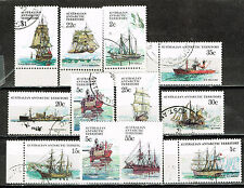 Australian Antarctic Territory Explorers Ships long set 1980