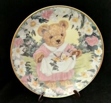Franklin Mint Teddy'S Spring Bouquet Sarah Bengry Teddy Bear Collectible Plate