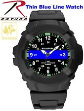 Aquaforce Thin Blue Line Watch TBL Water Resistant Law Enforcement 4381 Rothco
