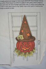 Daisy Kingdom Fabric 1 Door Panel Print Tin Hat Jack Pumpkin Holiday Craft