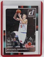 2015-16 Panini Donruss The Rookies Kristaps Porzingis RC #32 Knicks Rookie Card