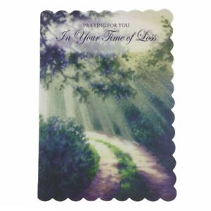 Sympathy Greeting Card,Praying For You In Your Time of Loss